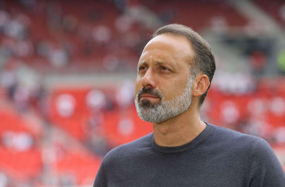 Pellegrino Matarazzo hat sich zu Thomas Hitzlsperger geäußert. Foto: Pressefoto Baumann/Hansjürgen Britsch