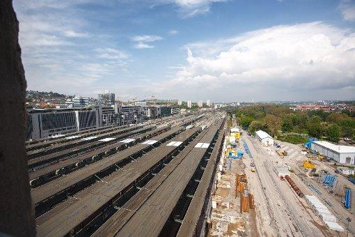 Die Bahnhofs-Baustelle im Mai