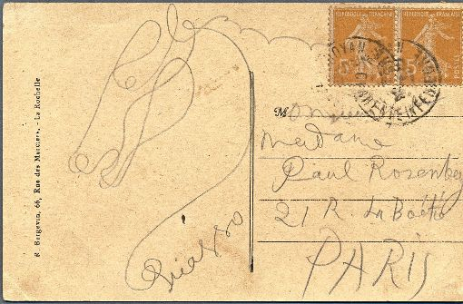 Postkarte von Picasso unterm Hammer