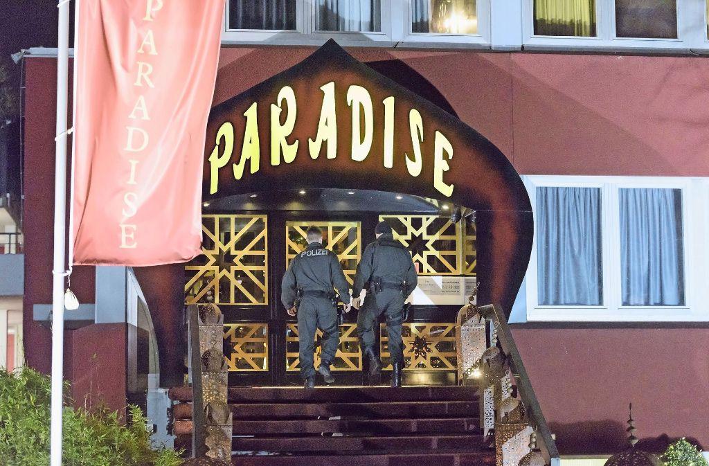 Erste Hinweise auf die Verdächtigen ergaben sich nach der Razzia vor zwei Jahren, bei der unter anderem der Club Paradise auf den Fildern durchsucht wurde. Foto: 7aktuell.de/Eyb