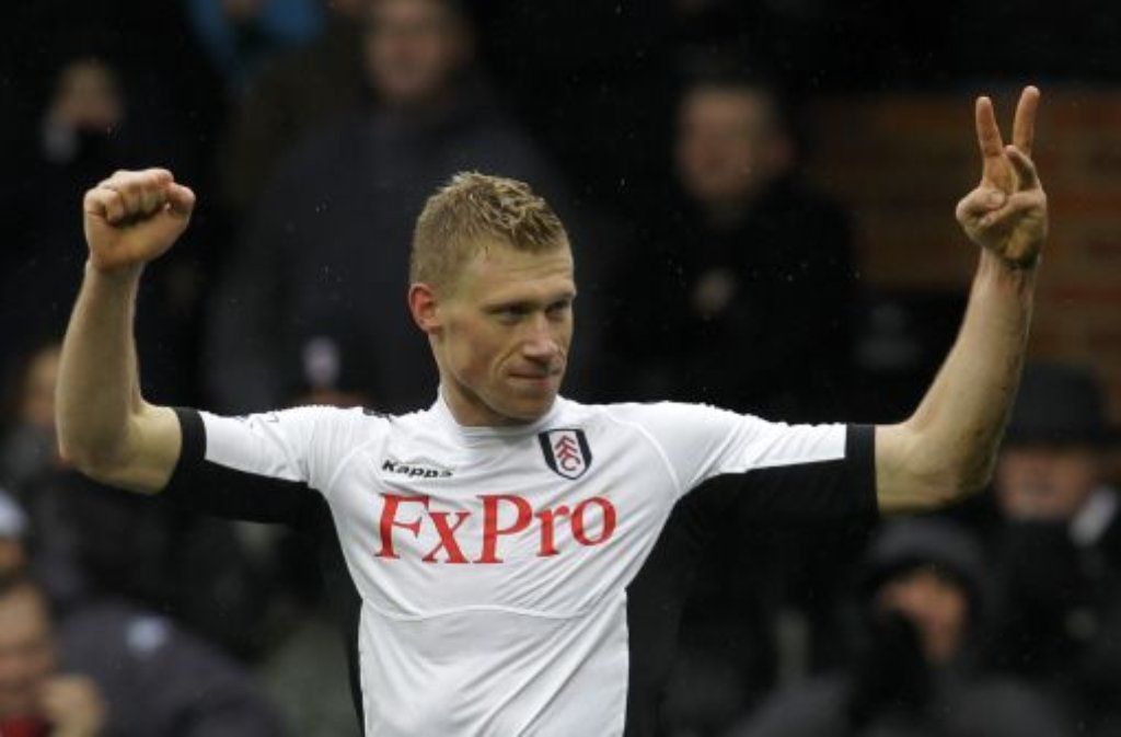 Ein Wechsel, der ihm gut getan hat: Ex-VfB-Stürmer Pawel Pogrebnjak hat in drei Premier-League-Spielen für den FC Fulham fünfmal getroffen. Foto: AP