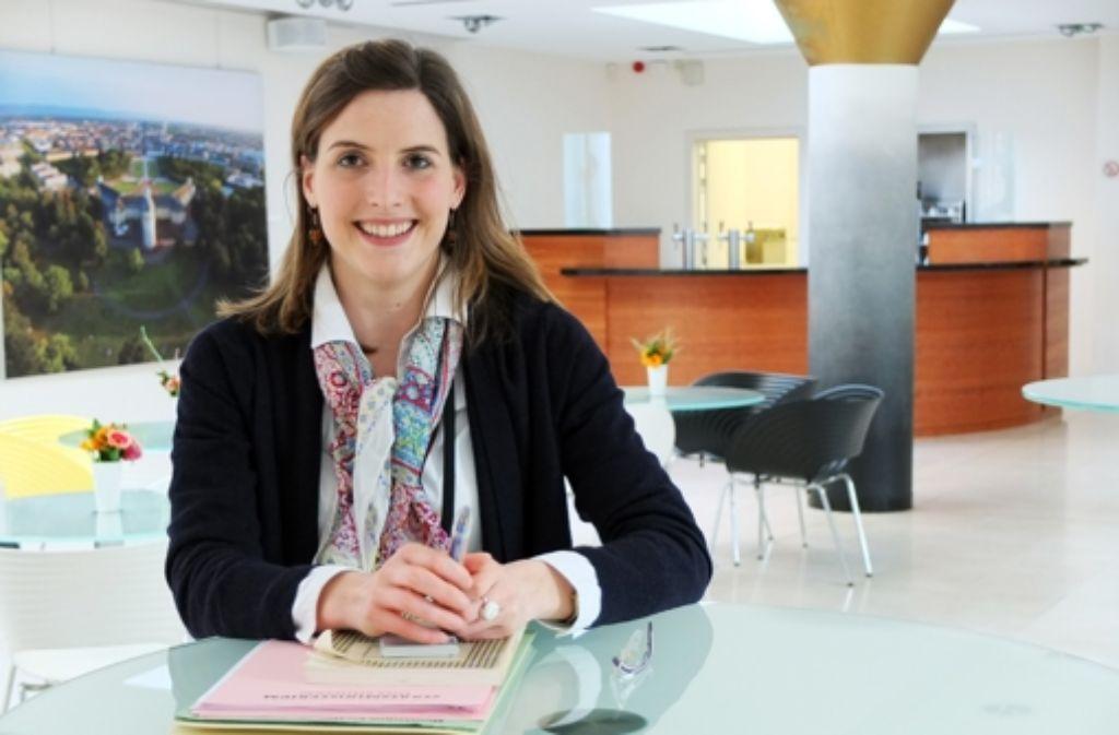 Annette Knödler knüpft für die Landesvertretung Kontakte. Foto: Plavec