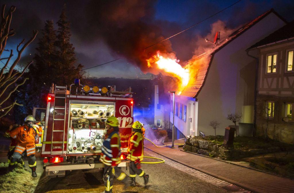 17. Februar: In einem Asylheim in Burgstetten bricht ein Feuer aus. Foto: 7aktuell.de/