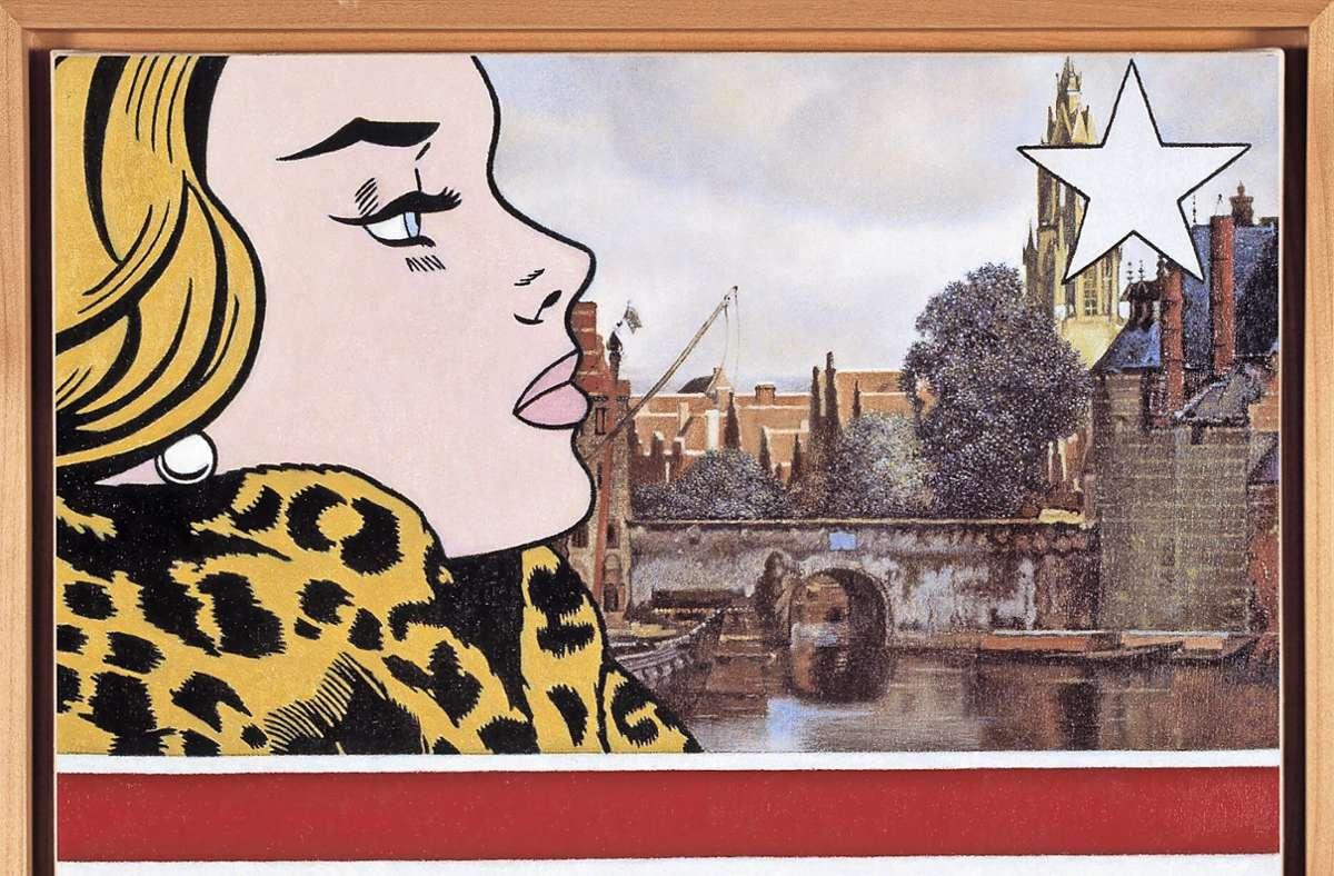 """Vermeer trifft Popart: """"The American Girl With the Pearl Earring"""" nennt der Sindelfinger Joachim Kupke dieses Werk. Foto: Galerie Schlichtenmaier"""