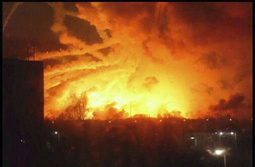 Brand in Munitionslager - Sabotageakt vermutet