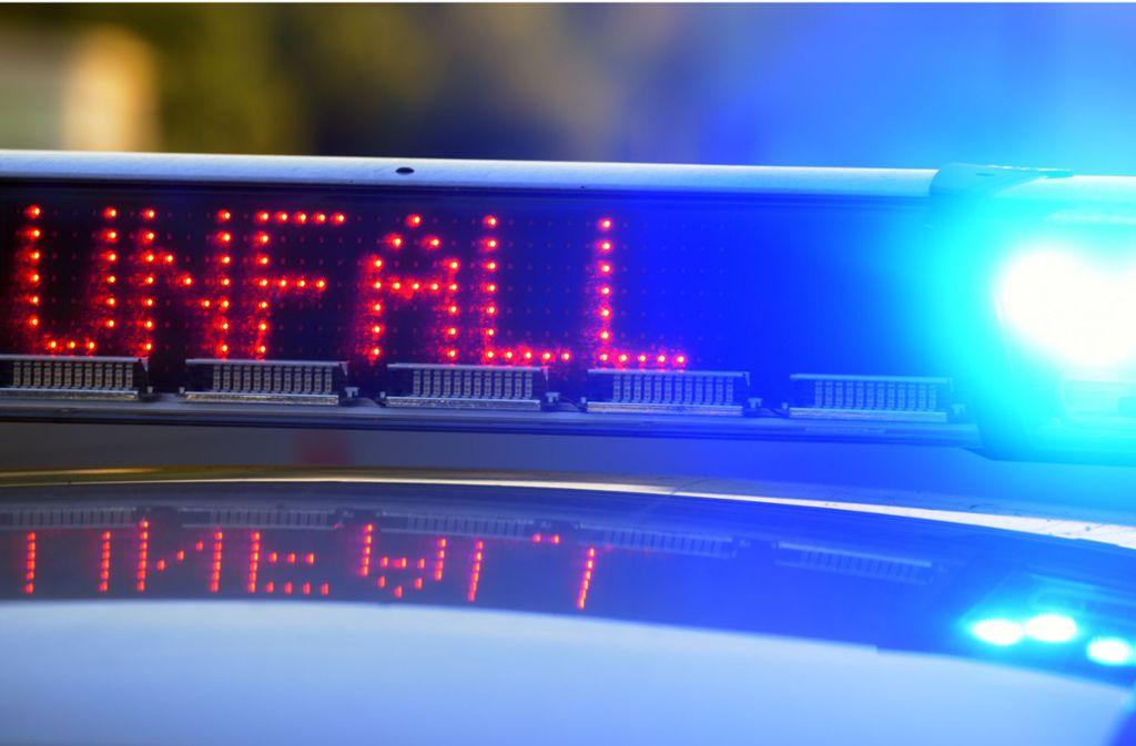 Die Polizei sperrte nach dem Unfall auf der A81 die linke Spur. Ein langer Stau war die Folge. Foto: dpa/Stefan Puchne