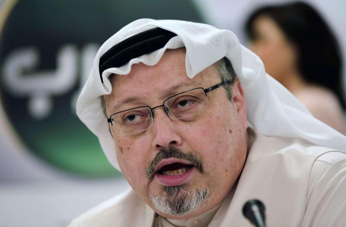 Der saudische Journalist Jamal Khashoggi    war am 2. Oktober 2018 im saudischen Konsulat in Istanbul von einem Spezialkommando aus Riad getötet worden Foto: dpa/Hasan Jamali
