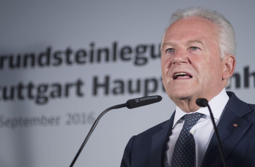 Der Weg kann für Rüdiger Grube beim Projekt Stuttgart 21 nicht mehr eingeschlagen werden. Foto: dpa