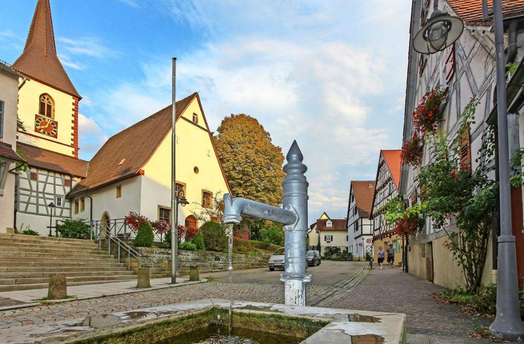 """Schöckingen ist  ein ausgezeichneter Ort: 1998 erhielt er die Goldmedaille im Wettbewerb """"Unser Dorf soll schöner werden"""". Foto: factum/Bach"""