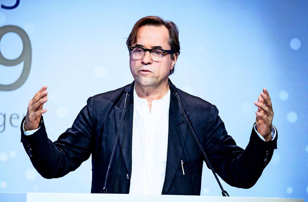 Jan Josef Liefers setzt sich für das Tübinger Modellprojekt ein. Foto: dpa/Christoph Soeder