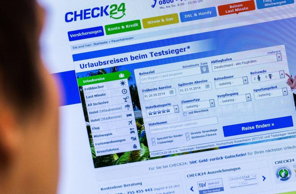 Das Landgericht München hat dem Preisvergleichsportal Check24 größere Transparenz für seine Nutzer verordnet. Foto: dpa