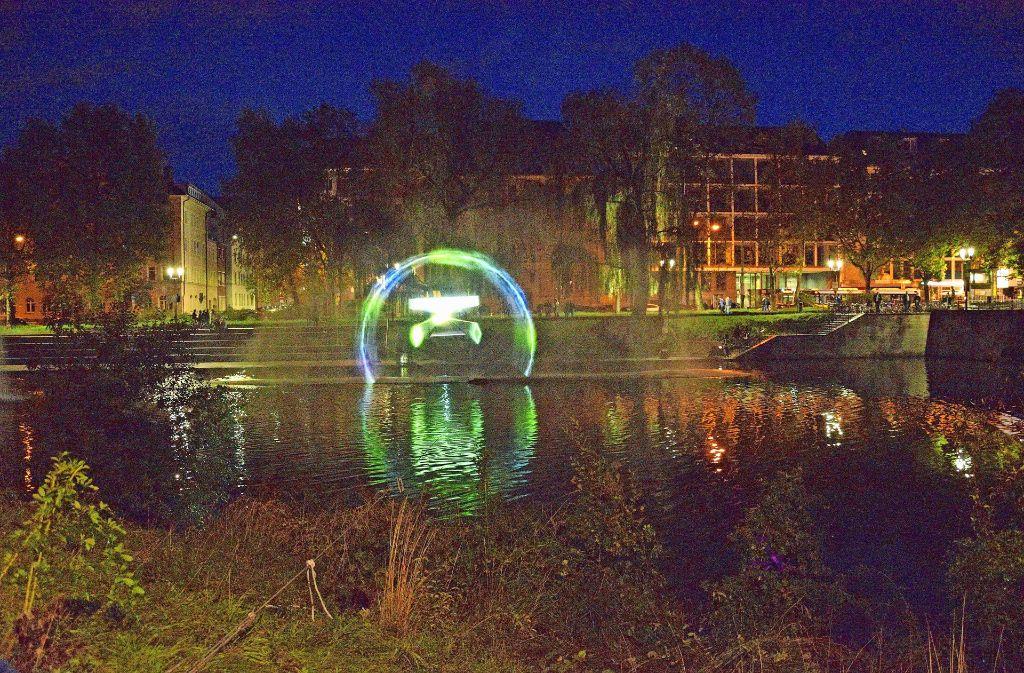 Max Hattlers Projektion war einer der Höhepunkte des Festes. Foto: Petra Mostbacher-Dix