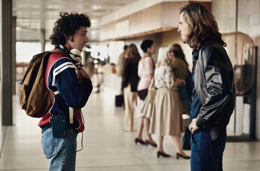 "Shia LaBeouf als John McEnroe  (links) und Sverrir Gudnason als Björn Borg in dem Film ""Borg/McEnroe"" Foto: Universum film"