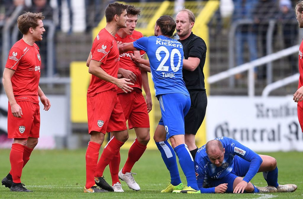 Führungsspieler und Torschütze: Mijo Tunjic (mitte). Foto: Pressefoto Baumann