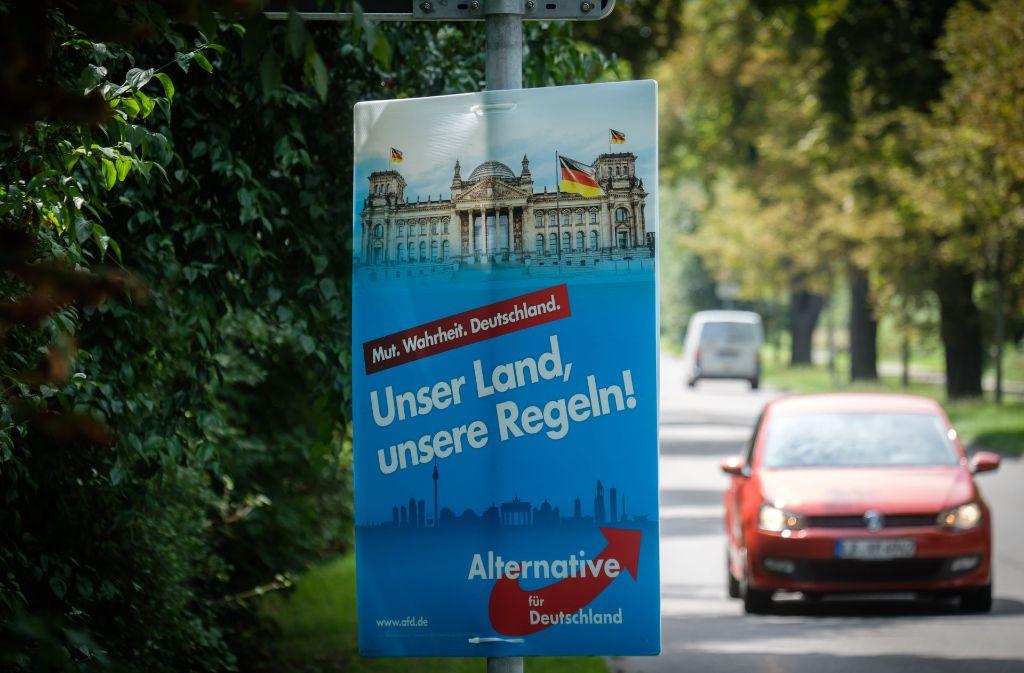Beim Aufhängen von Wahlplakaten ist es zu Handgreiflichkeiten gekommen. Foto: Lichtgut/Achim Zweygarth