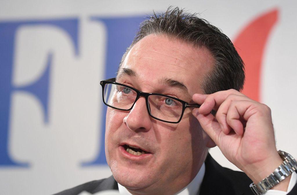 Heinz-Christian Strache wird für die Regierung zum Problem. Foto: dpa