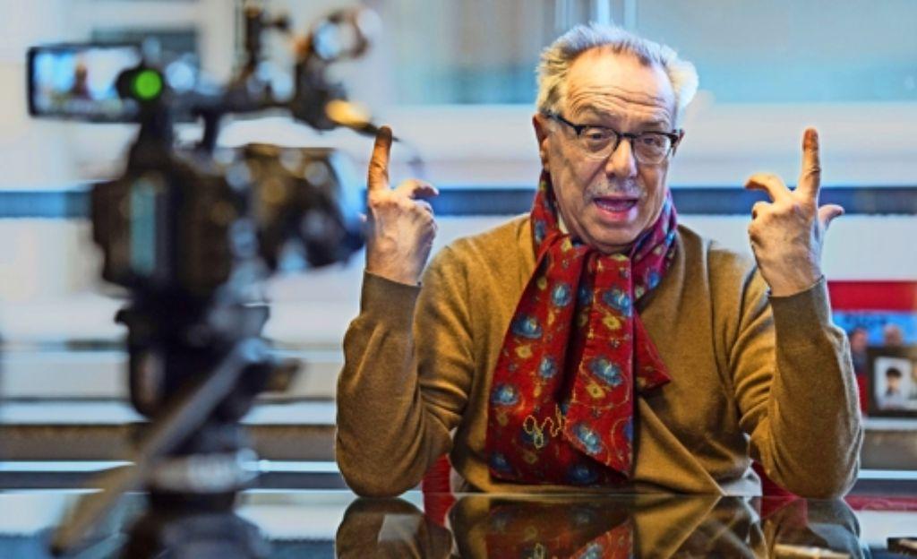 Seit 2001 leitet er die  Geschicke der Berlinale: Dieter Kosslick in seinem Büro am Potsdamer Platz. Foto: AFP