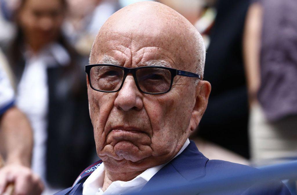 Der Medienzar Rupert Murdoch: Hinter seiner Stirn reift immer eine Strategie. Foto: dpa