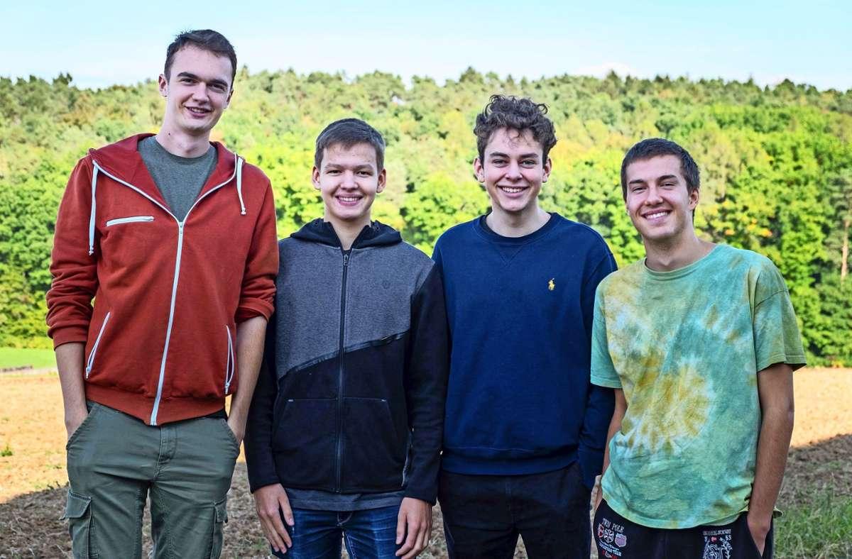 Philipp Moeßner, Jonathan Rupps, Nicolai von Beckerath und  Dominik Ancuta (von links) sind von ihrer App überzeugt. Foto: privat