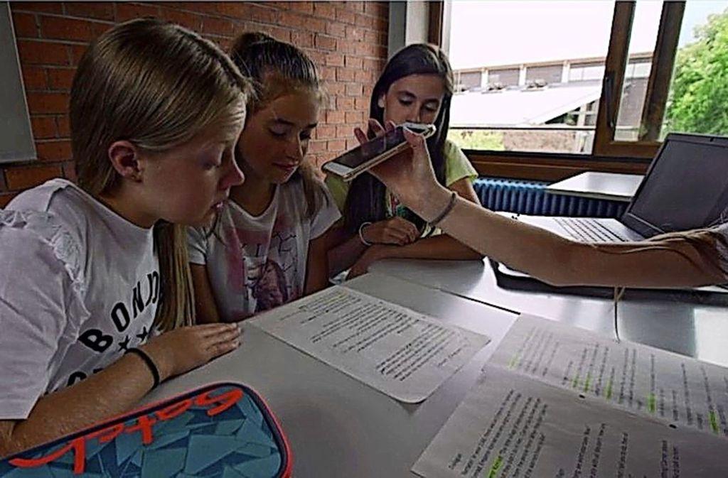 Die Schüler investieren viel Arbeit und Mühe in ihr Projekt. Foto: Gymnasium Renningen