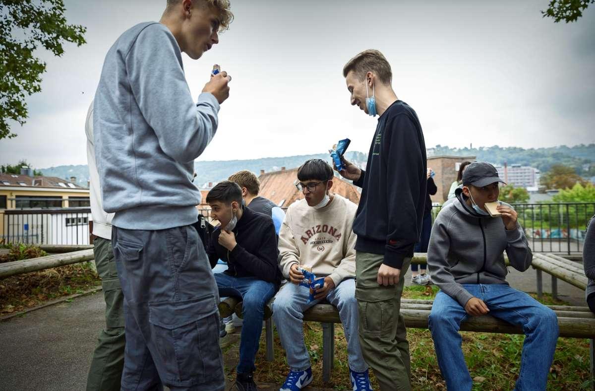 Ruckzuck weggeschleckt – Schüler der Schickhardt-Gemeinschaftsschule Foto: Lichtgut/Julian Rettig