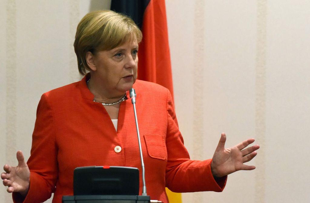 Kanzlerin Angela Merkel will Chemnitz besuchen. Foto: AFP