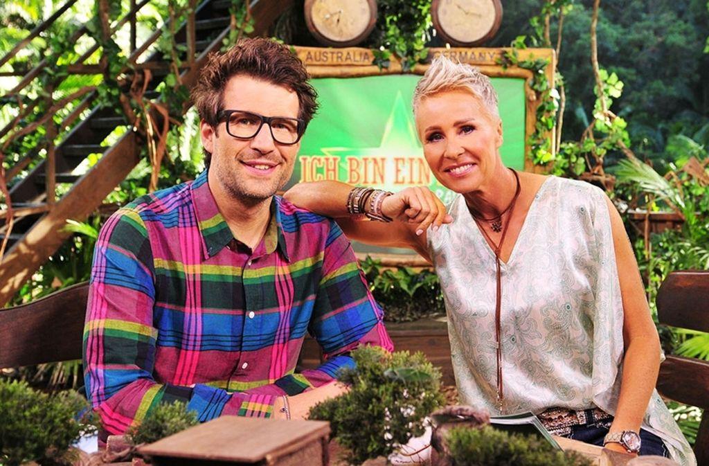 Die Moderatoren Daniel Hartwich und Sonja Zietlow freuen sich schon auf zwölf frische Kandidaten im RTL-Dschungelcamp. Foto: RTL