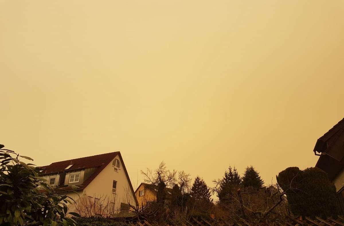 Wetterexperten vermuten: Saharastaub färbte Stuttgarts Himmel gelb. Foto: Henning Jochum/StZN
