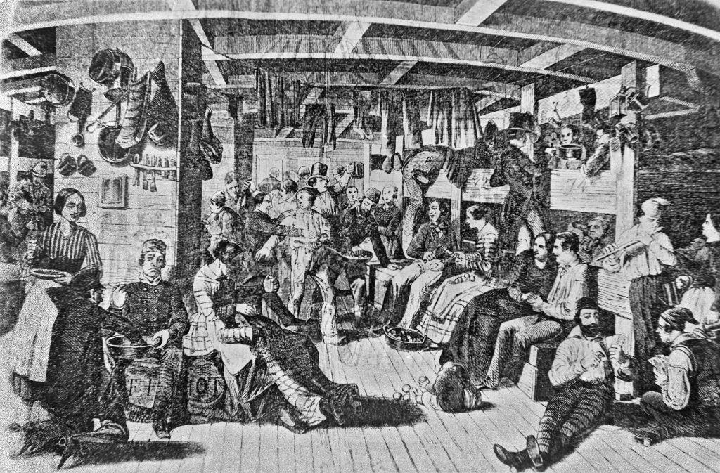 Auswanderer um das Jahr 1830 auf dem Schiff Samuel Hop: Sie ließen ihre Heimat und die Nöte jener Zeit hinter sich. Foto: Landesmedienzentrum Baden-Württemberg
