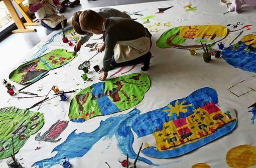 Kinder finden durch Kunsttherapie wieder Halt