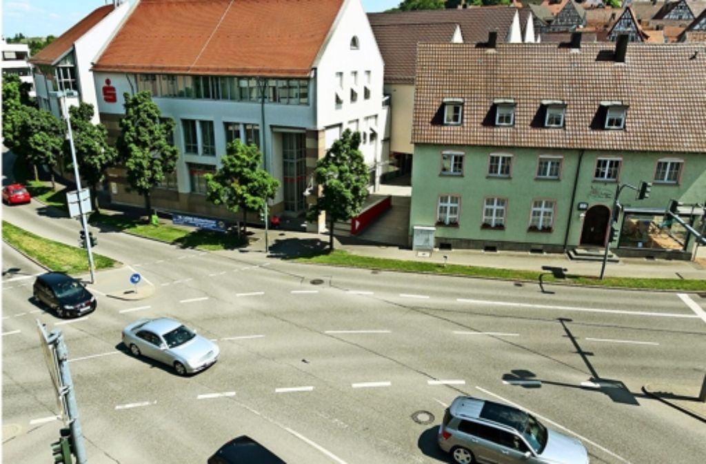 Auf dem Reinhold-Schick-Platz fließt der Verkehr nur selten. Foto: factum/Granville