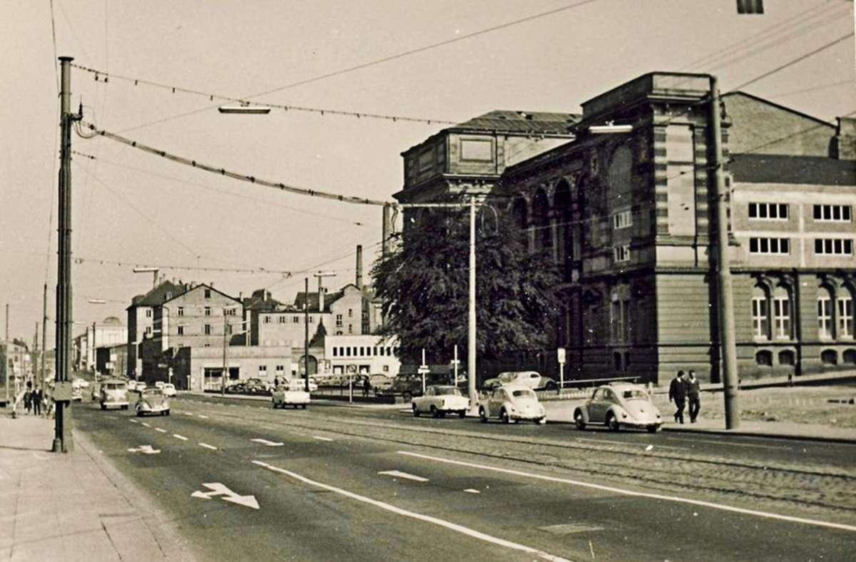 Die Kulturmeile vor etwa 60 Jahren:  Auf dem Grundstück der  Landesbibliothek befindet sich heute der Erweiterungsbau. Foto: Kurt Däß
