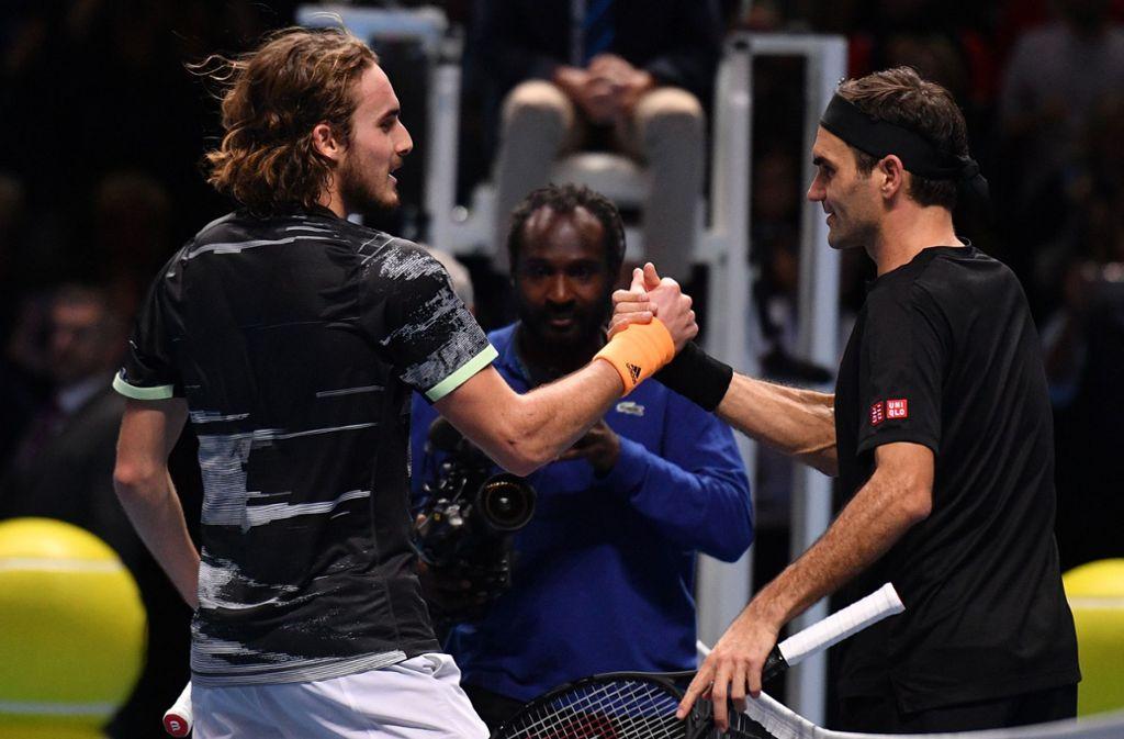 Rodger Federer musste sich dem Griechen Stefanos Tsitsipas geschlagen geben. Foto: AFP/DANIEL LEAL-OLIVAS