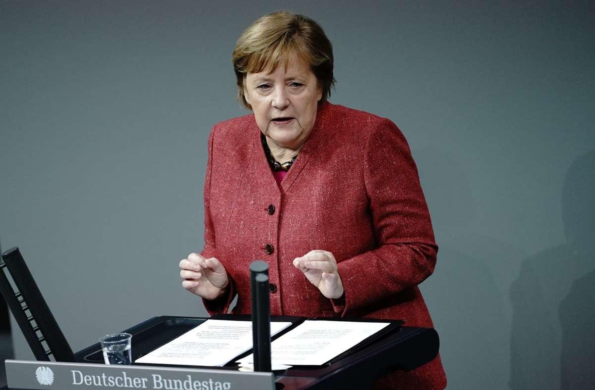 Angela Merkel  sei eine historische Rede gelungen, die für die erfolgreiche Bewältigung der ersten Corona-Welle von zentraler Bedeutung gewesen sei, so die Jury. (Archivbild) Foto: dpa/Kay Nietfeld