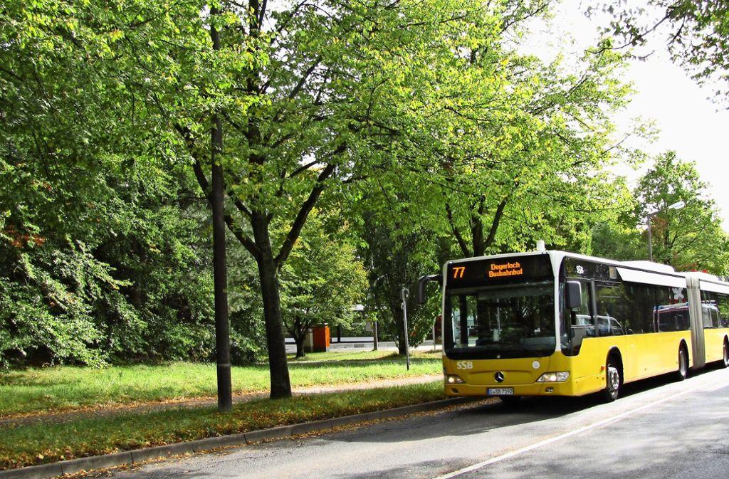 Die Buslinie 77 führt einmal quer über die Filderebene. Foto: