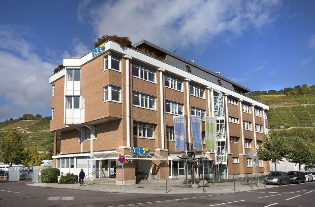 Als Interimsstandort für die Stadtbücherei im Gespräch: Die Stadtwerke-Zentrale in der Fleischmannstraße. Foto: Pressefoto Horst Rudel/Horst Rudel