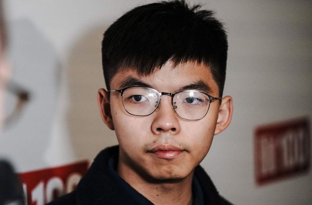 Joshua Wong ist einer der Organisatoren des Protestes in Hongkong. Foto: AFP