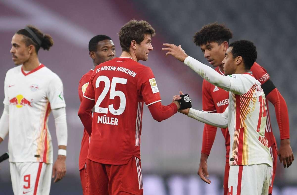 Der FC Bayern München und RB Leipzig trennten sich 3:3. Foto: AFP/Andreas Gebert