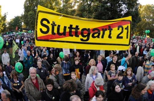 Schweigemarsch gegen Stuttgart 21