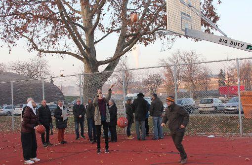 Ein neues Streetballfeld im Neckarpark