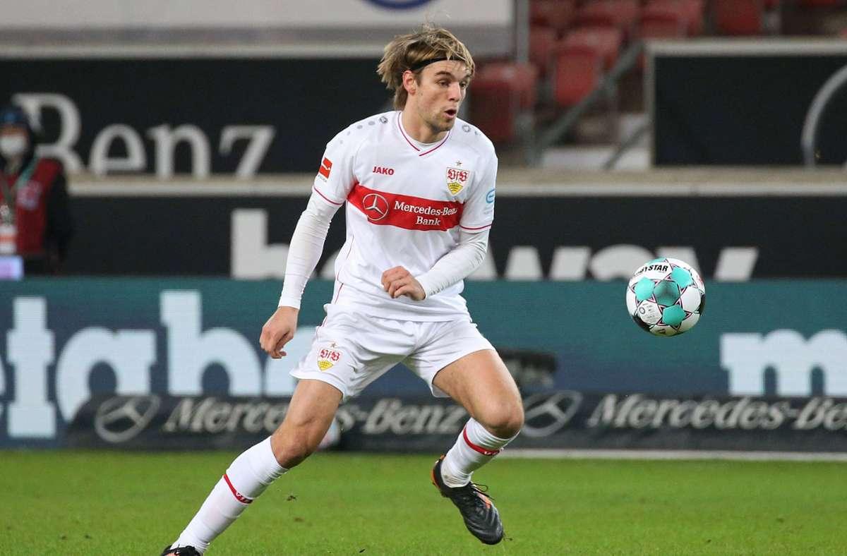 Borna Sosa überzeugt beim VfB Stuttgart mit guten Leistungen. Foto: Pressefoto Baumann/Alexander Keppler