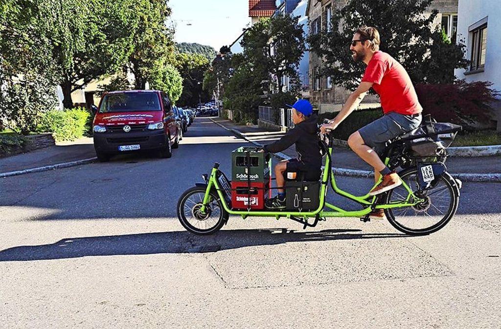 Den Kauf von Lastenrädern mit Elektromotor wird die Stadt bezuschussen. Foto: Uni Stuttgart/ Reallabor für nachhaltige Mobilität