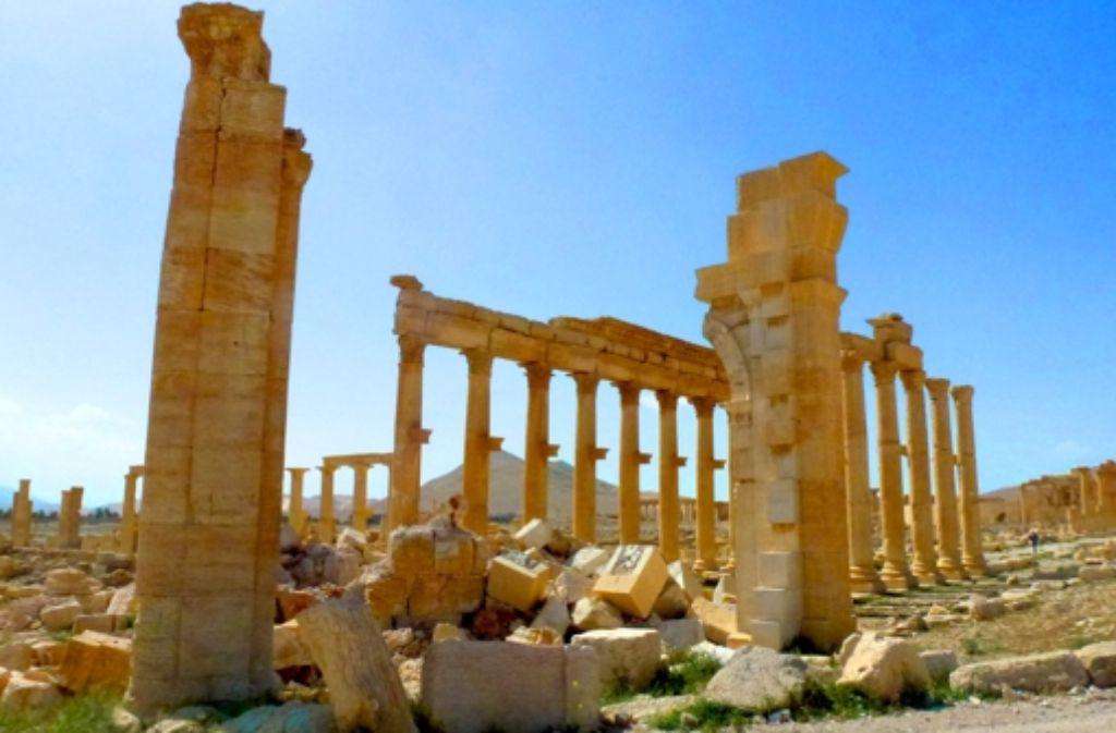 Das Weltkulturerbe in Palmyra ist nicht   so schlimm zerstört wie befürchtet. Foto: AFP