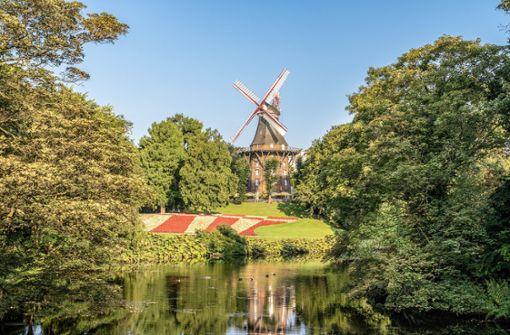 Diese traumhafte Kulisse ist nicht in Holland, sondern mitten in Bremen. Bremens Kaffeemühle ist definitiv einen Besuch wert.