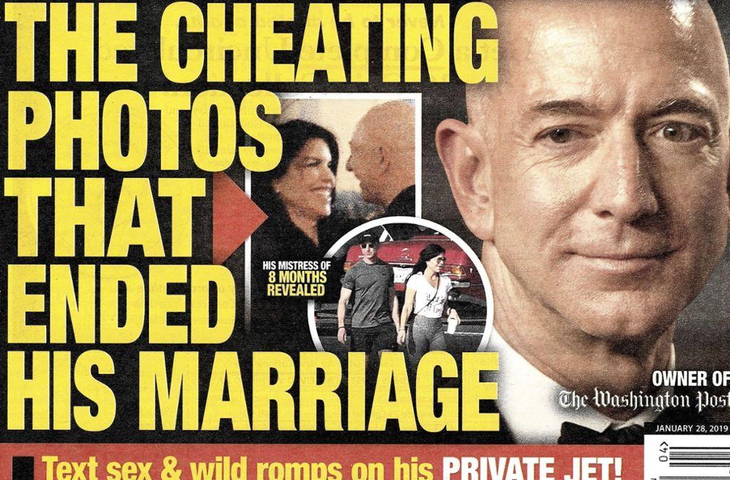"""Mit dieser Titelgeschichte brachte das Skandalblatt """"National Enquirer"""" den Stein ins Rollen. Foto: National Enquirer/AP"""