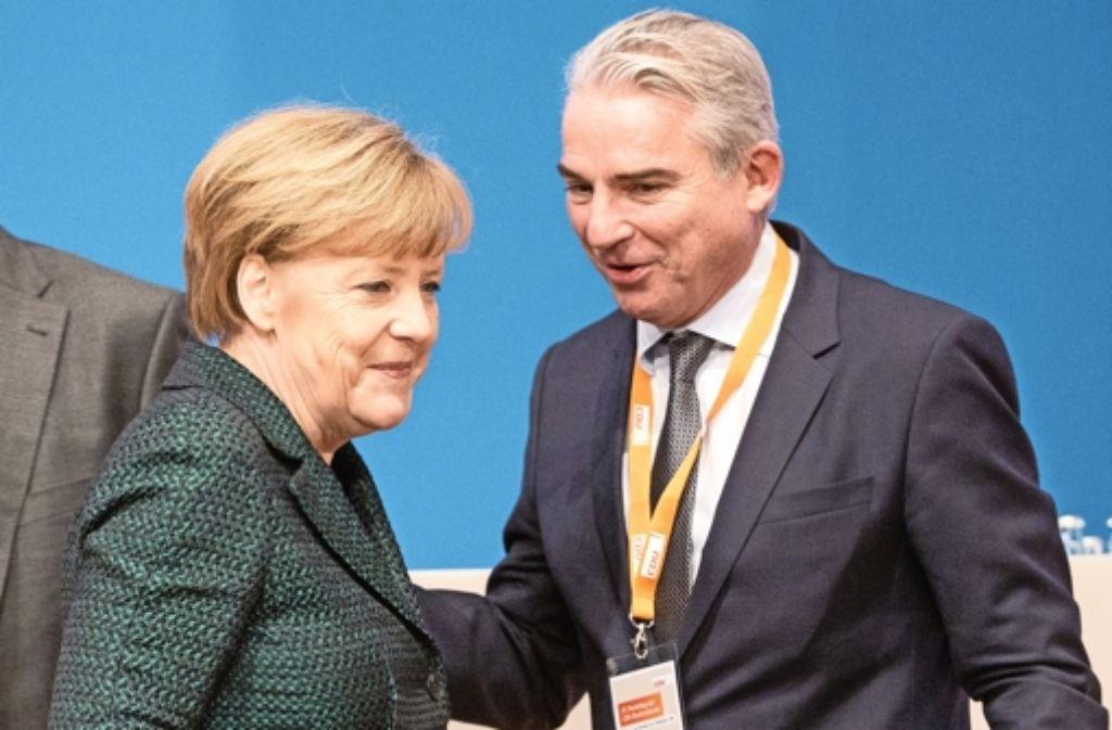 CDU-Chefin Angela Merkel und ihr Vize Thomas Strobl: Die Programmatik der Partei soll überarbeitet werden. Foto: dpa