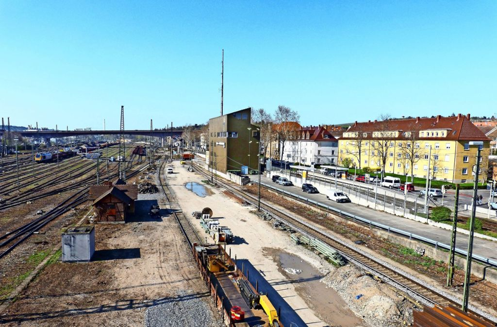 Die alte Gleisfläche des Güterbahnhofs in Untertürkheim soll zu einem Abstell- und Wartungsbahnhof werden. Foto: Alexander Müller