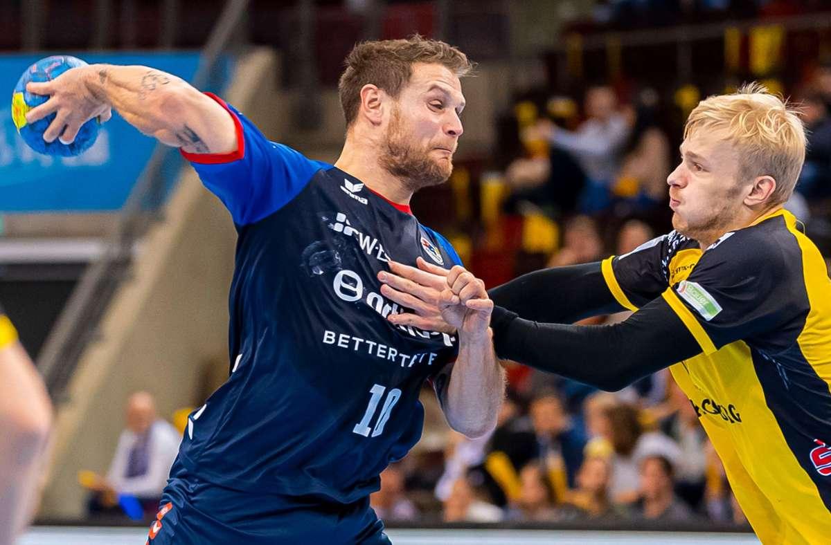 Handball-Zweitligist SG BBM Bietigheim profitiert von den Stärken von  Mimi Kraus: Eine davon ist sein  knallharter Schlagwurf. Foto: Baumann