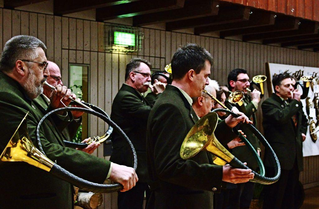 Musik aus Jagdhörnern gehört natürlich auch dazu. Foto: Jana Stäbener