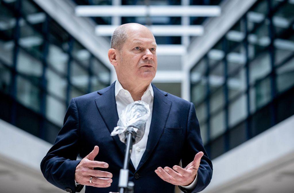Hat er die Milliarden im Griff? Bundesfinanzminister Olaf Scholz  verteidigt den von Deutschland und Frankreich vorgeschlagenen Wiederaufbaufonds. Foto: dpa/Kay Nietfeld